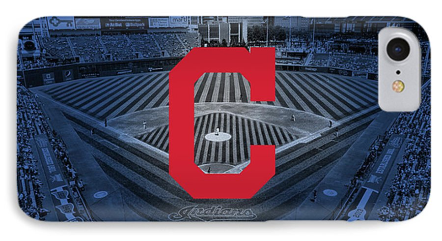 Cleveland IPhone 7 Case featuring the digital art Cleveland Indians Baseball by Nicholas Legault