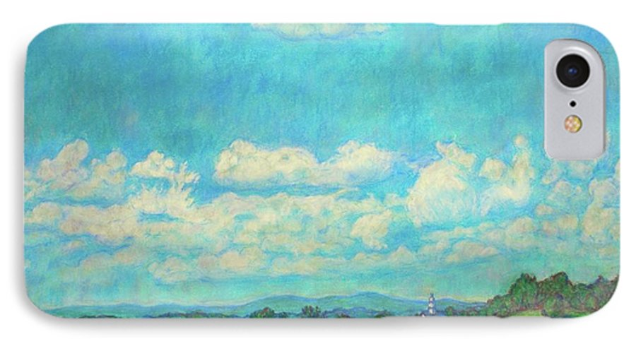 Landscape IPhone 7 Case featuring the painting Clouds Over Fairlawn by Kendall Kessler