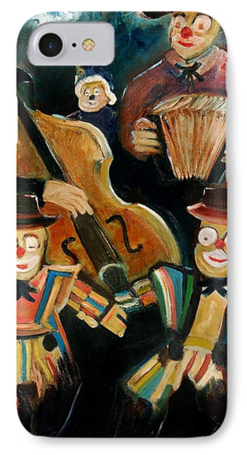 Clowns Circus IPhone 7 Case featuring the print Clowns by Pol Ledent