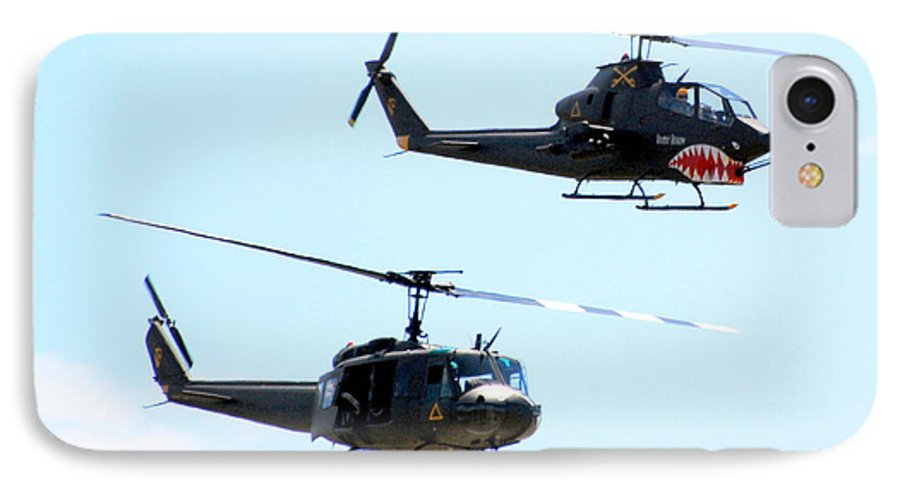 Military IPhone 7 Case featuring the photograph Cobra And Huey by Larry Keahey