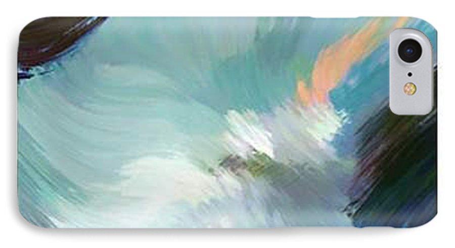 Landscape Digital Art IPhone 7 Case featuring the digital art Color Falls by Anil Nene