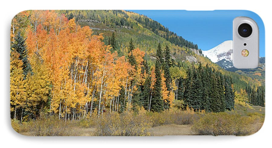 Aspen IPhone 7 Case featuring the photograph Colorado Gold by Jerry McElroy