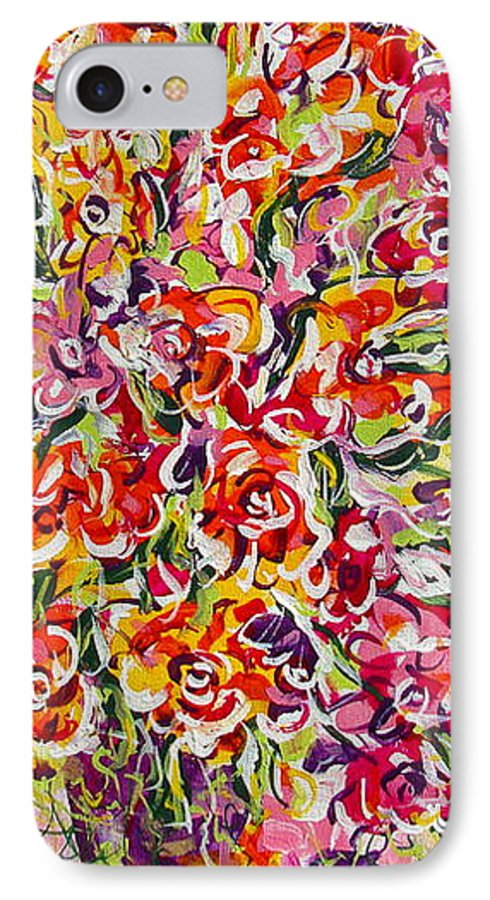 Framed Prints IPhone 7 Case featuring the painting Colorful Organza by Natalie Holland
