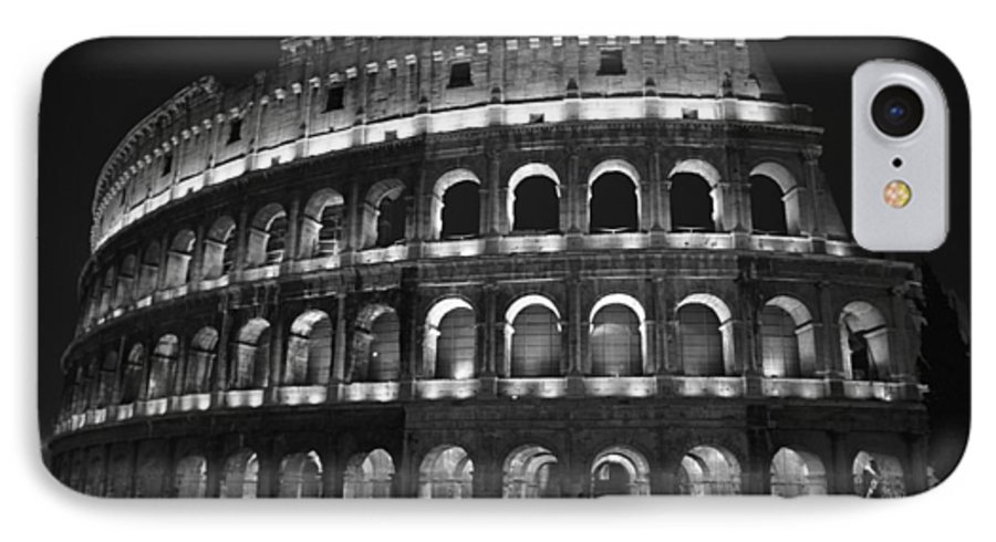 Italy IPhone 7 Case featuring the photograph Colosseum by Kathy Schumann