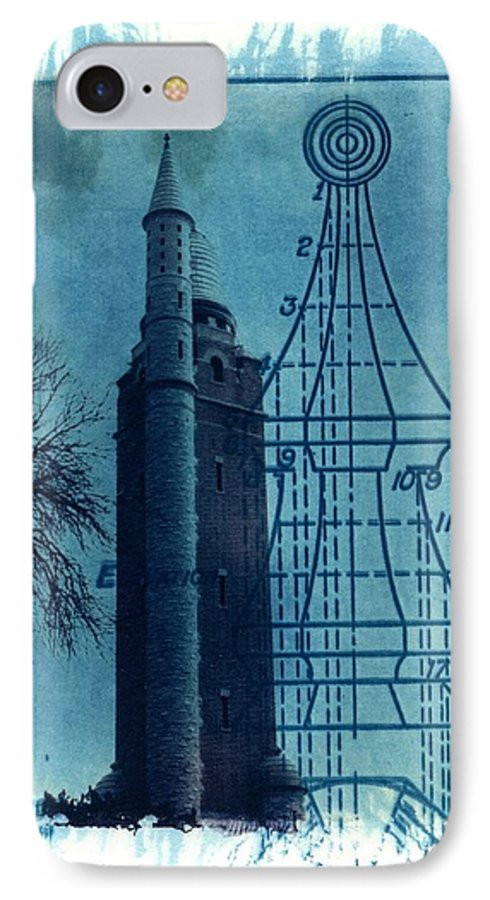 Alternative Process Photography IPhone 7 Case featuring the photograph Compton Blueprint by Jane Linders