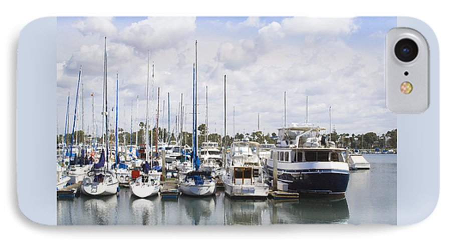 Coronado IPhone 7 Case featuring the photograph Coronado Boats II by Margie Wildblood