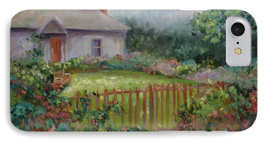 Cottswold IPhone 7 Case featuring the painting Cottswold Cottage by Ginger Concepcion