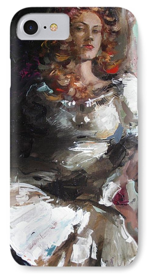Ignatenko IPhone 7 Case featuring the painting Countess by Sergey Ignatenko