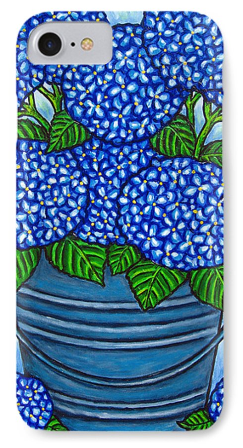 Blue IPhone 7 Case featuring the painting Country Blues by Lisa Lorenz