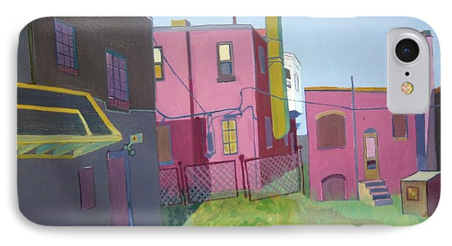 Alleyway IPhone 7 Case featuring the painting Courtyard View by Debra Bretton Robinson
