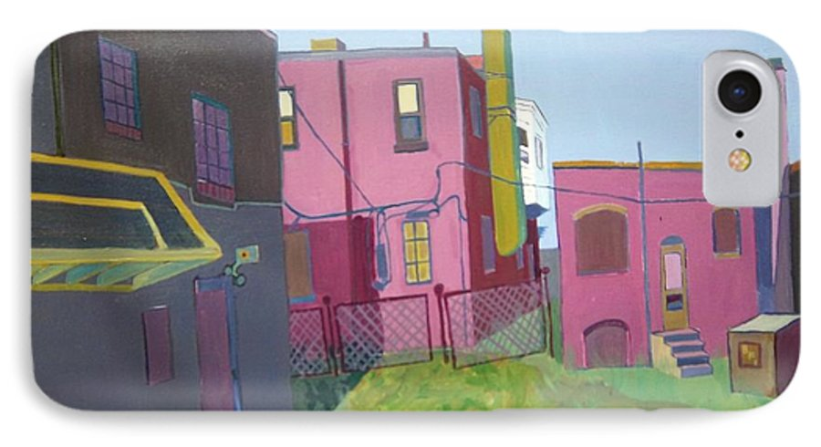 Alleyway IPhone Case featuring the painting Courtyard View by Debra Bretton Robinson