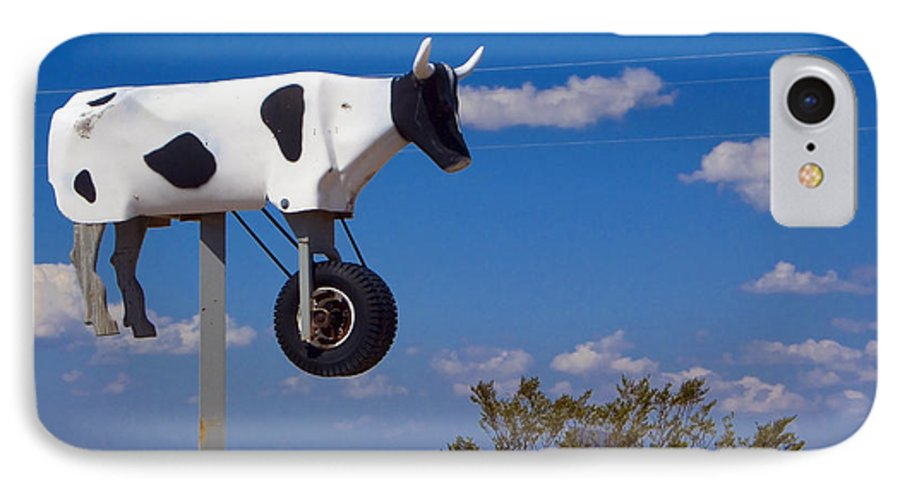 Cow IPhone 7 Case featuring the photograph Cow Power by Skip Hunt