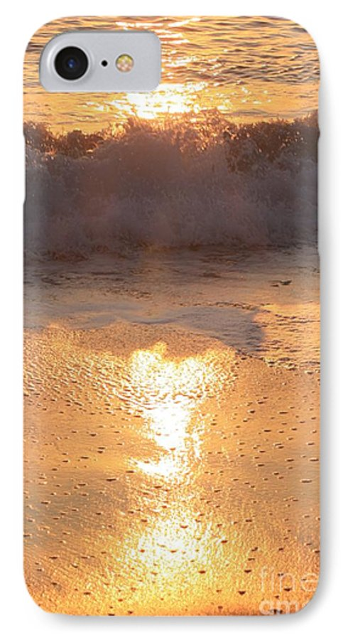 Waves IPhone 7 Case featuring the photograph Crashing Wave At Sunrise by Nadine Rippelmeyer