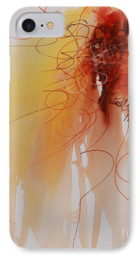 Creativity IPhone 7 Case featuring the painting Creativity by Nadine Rippelmeyer