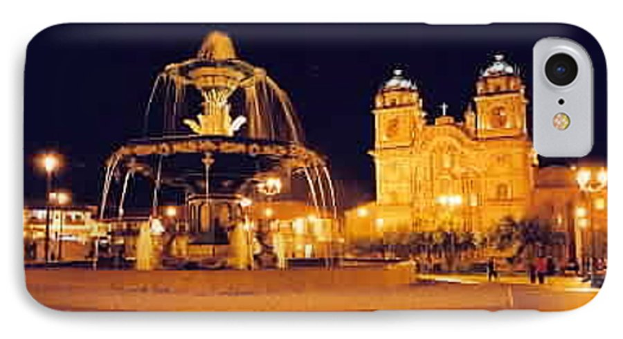 Night IPhone 7 Case featuring the photograph Cusco Peru by Kathy Schumann