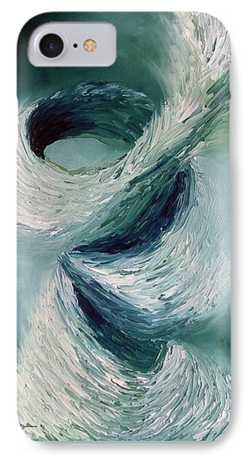 Tornado IPhone 7 Case featuring the painting Cyclone by Elizabeth Lisy Figueroa