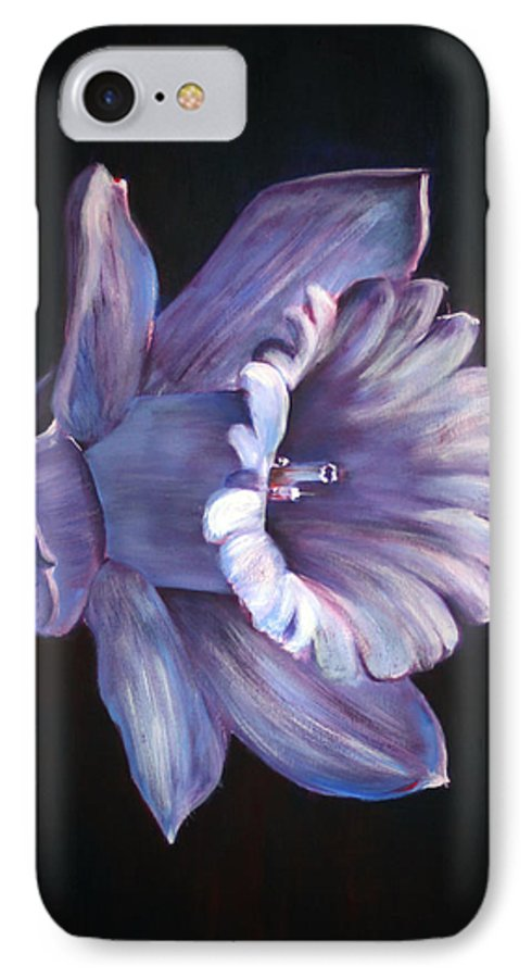 Flower IPhone 7 Case featuring the painting Daffodil by Fiona Jack
