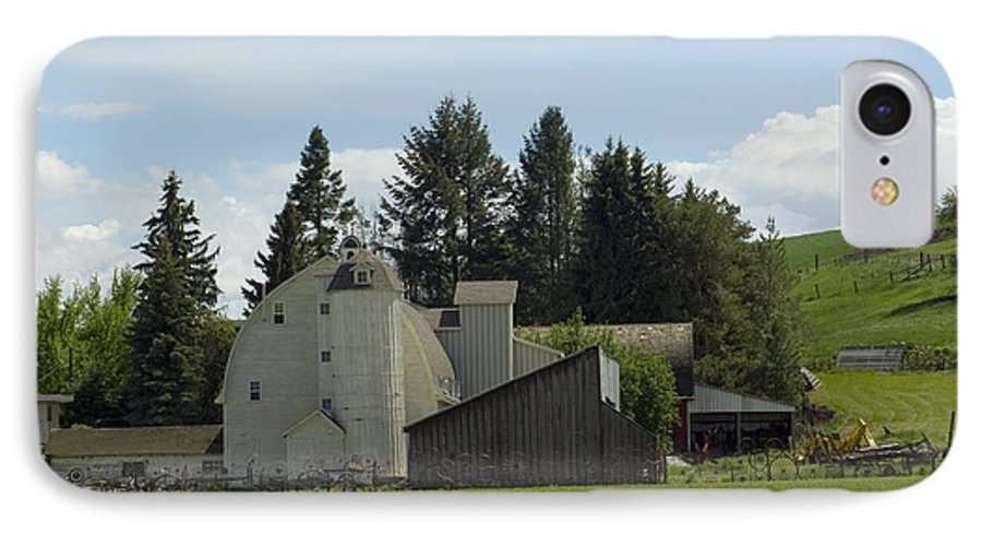 Barn IPhone 7 Case featuring the photograph Dahmen Barn Historical by Louise Magno