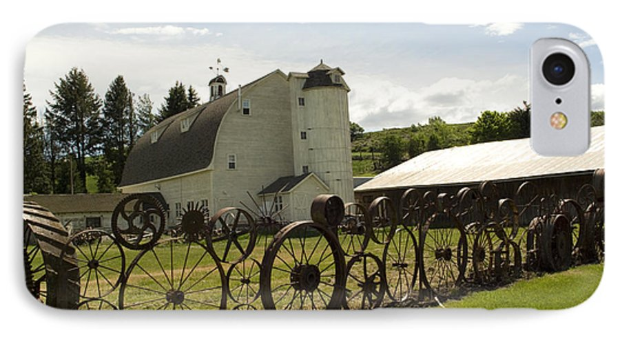 Historic Barn IPhone 7 Case featuring the photograph Dahmen Barn by Louise Magno