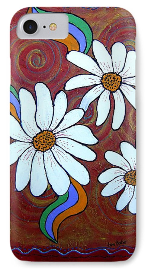 IPhone 7 Case featuring the painting Daisies Gone Wild by Tami Booher