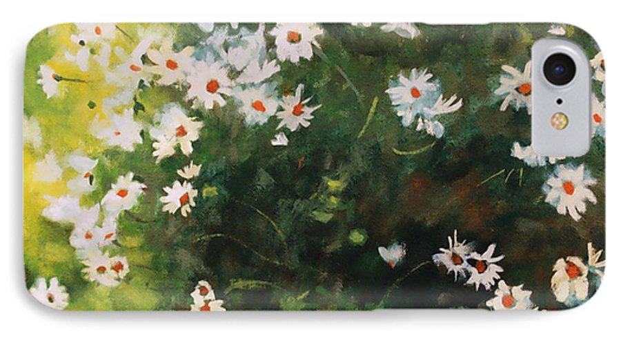 Daisies IPhone 7 Case featuring the painting Daisies by Iliyan Bozhanov