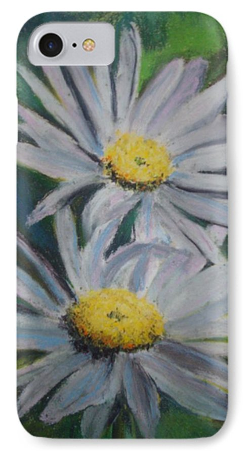 Daisies IPhone 7 Case featuring the painting Daisies by Melinda Etzold
