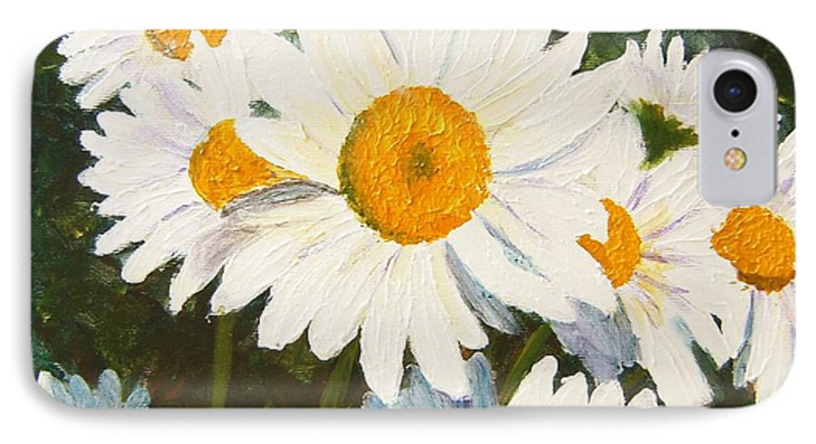 Daisy IPhone 7 Case featuring the painting Daisy by Tami Booher