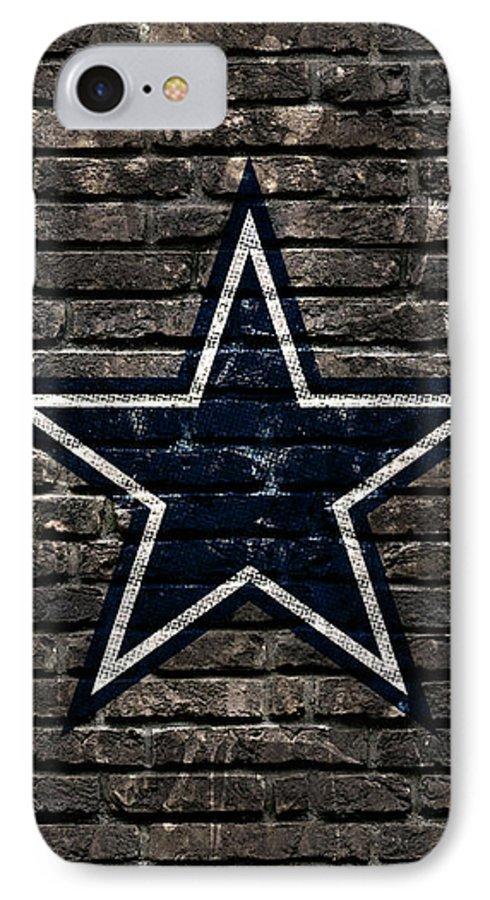 Dallas Cowboys IPhone 7 Case featuring the digital art Dallas Cowboys Nfl Football by Nicholas Legault