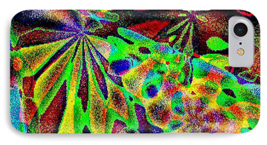 Computer Art IPhone 7 Case featuring the digital art Damselwing by Dave Martsolf