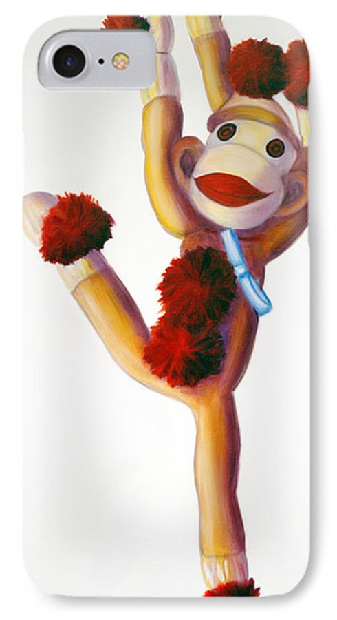 Dancer IPhone 7 Case featuring the painting Dancer Made Of Sockies by Shannon Grissom