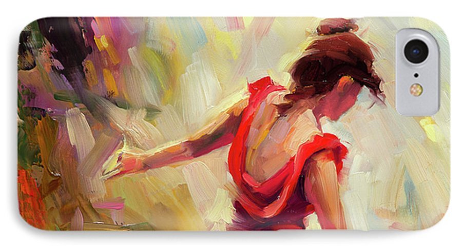 Dancer IPhone 7 Case featuring the painting Dancer by Steve Henderson