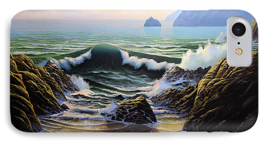 Dancing Tide IPhone 7 Case featuring the painting Dancing Tide by Frank Wilson
