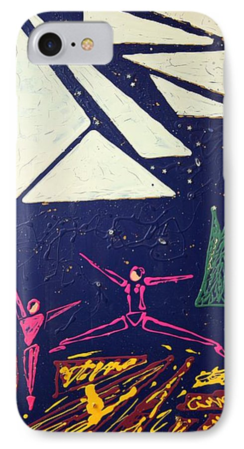 Dancers IPhone 7 Case featuring the mixed media Dancing Under The Starry Skies by J R Seymour