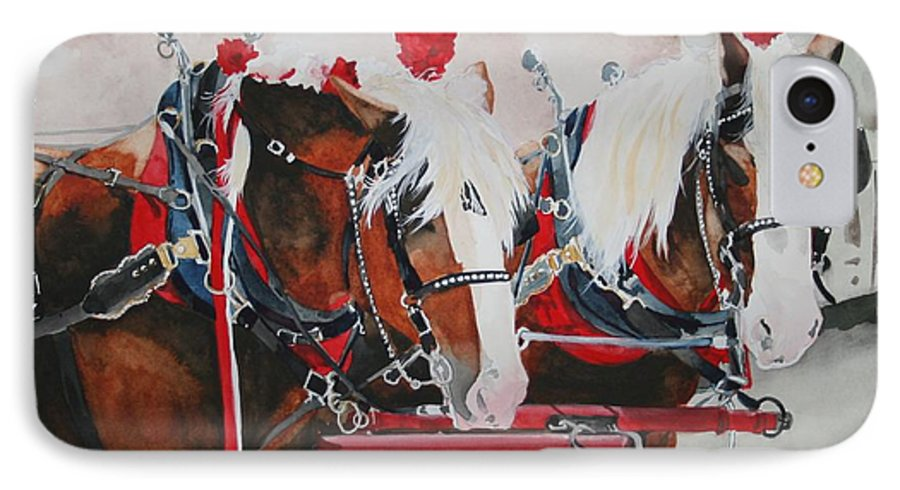 Horse IPhone 7 Case featuring the painting Dandy Duo by Jean Blackmer