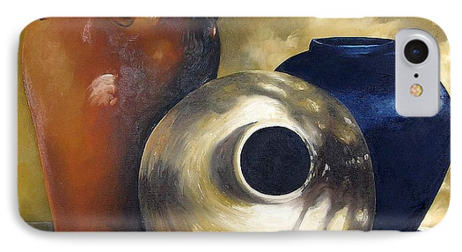Painting IPhone 7 Case featuring the painting Dappled Light by Trisha Lambi