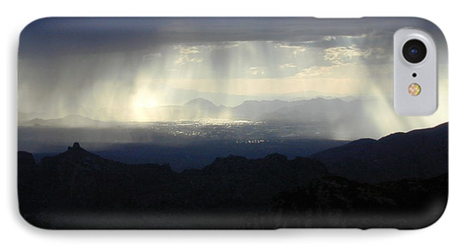 Darkness IPhone 7 Case featuring the photograph Darkness Over The City by Douglas Barnett