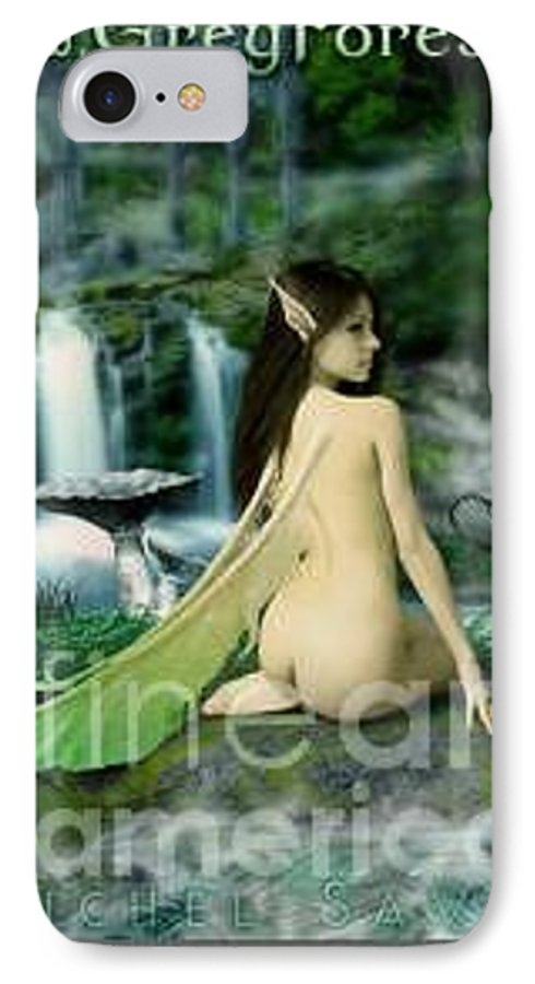 Fairy IPhone 7 Case featuring the painting Darkwood by Michel Savage
