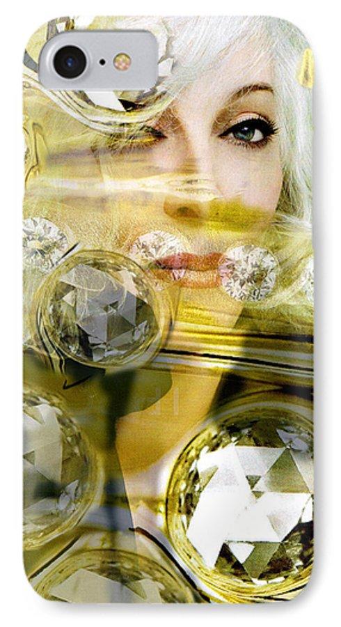 Women IPhone 7 Case featuring the digital art Darling Diamonds by Seth Weaver