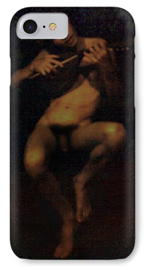 Male IPhone 7 Case featuring the painting David.06 by Terrell Gates