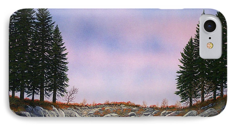 Landscape IPhone 7 Case featuring the painting Dawn Pacific Crest Trail by Frank Wilson