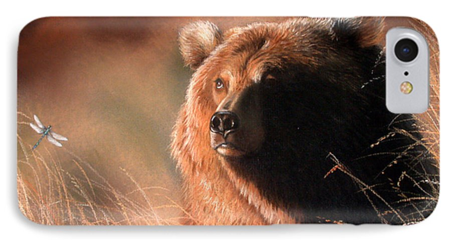 Wildlife IPhone 7 Case featuring the painting Day Dream by Deb Owens-Lowe