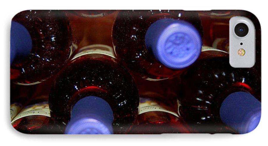Wine IPhone 7 Case featuring the photograph De-vine Wine by Debbi Granruth