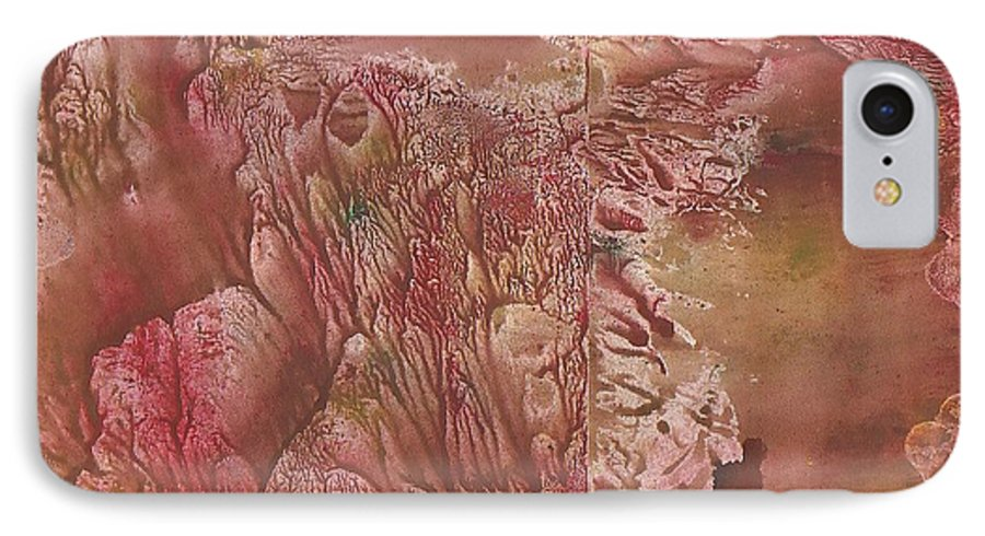 Decalcomanie IPhone 7 Case featuring the painting Decalcomanie 1 by Michael Puya
