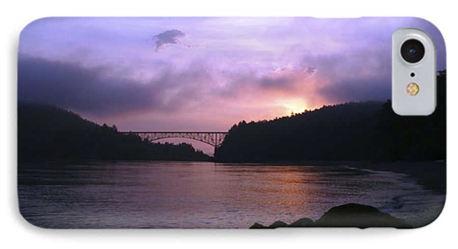 Sunrise IPhone 7 Case featuring the photograph Deception Pass Sunrise by Idaho Scenic Images Linda Lantzy