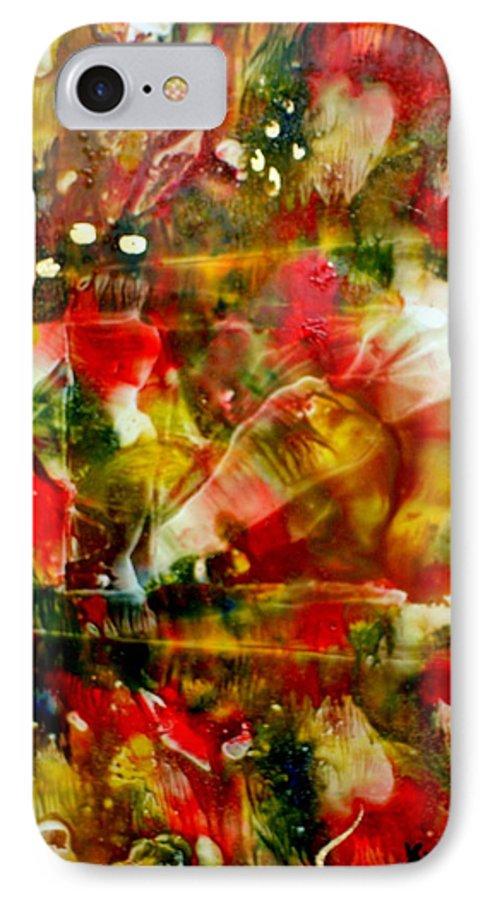 Window IPhone 7 Case featuring the painting Deck The Halls by Susan Kubes