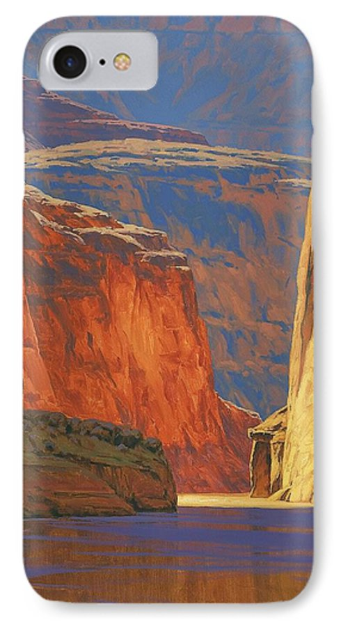 Grand Canyon IPhone 7 Case featuring the painting Deep In The Canyon by Cody DeLong