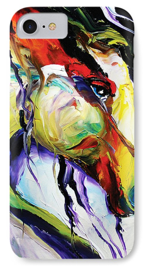 Horse Paintings IPhone 7 Case featuring the painting Deep Memories by Laurie Pace