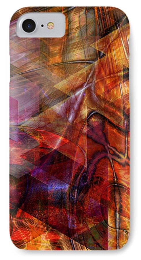 Deguello Sunrise IPhone 7 Case featuring the digital art Deguello Sunrise by John Beck