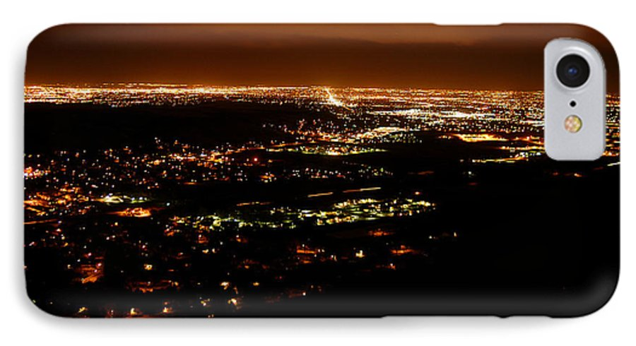 Clay IPhone 7 Case featuring the photograph Denver Area At Night From Lookout Mountain by Clayton Bruster
