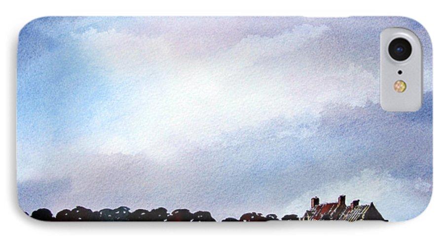 Watercolour IPhone 7 Case featuring the painting Derelict Farmhouse Near Malton by Paul Dene Marlor